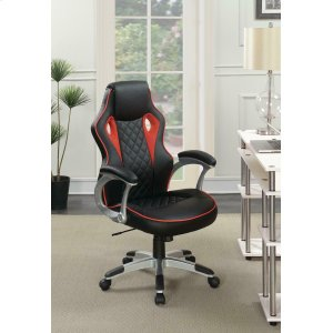 CoasterContemporary Black/red-high Back Office Chair