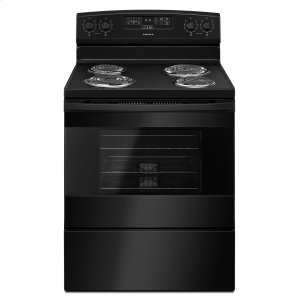 Amana30-Inch Electric Range With Bake Assist Temps Black