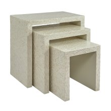 Global Archive Capiz Basket Weave Nesting Tables (set of 3) - Natural