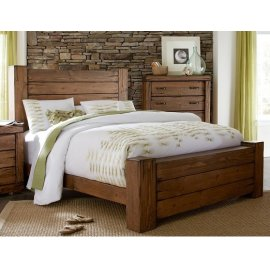 6/6 King Panel Bed - Driftwood Finish
