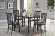 Laurel Cappuccino & Cherry 5 Pc Dining Set