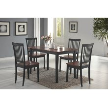 Laurel Cappuccino & Cherry 5 Pc Dining Set