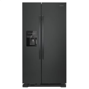 Amana33-inch Side-by-Side Refrigerator with Dual Pad External Ice and Water Dispenser Black