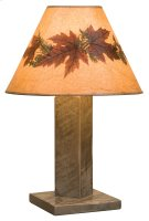 Frontier Table Lamp - Driftwood - with Large Foliage Lamp Shade (Shade #19245-L) Product Image