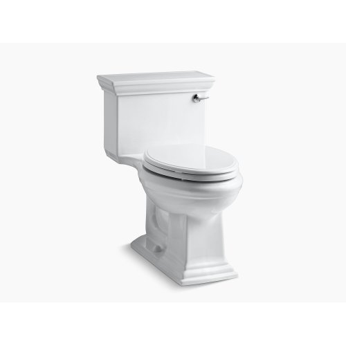Biscuit Comfort Height One-piece Elongated 1.28 Gpf Toilet With Aquapiston Flushing Technology and Right-hand Trip Lever