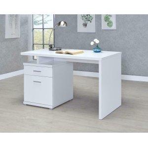 CoasterContemporary White Executive Desk