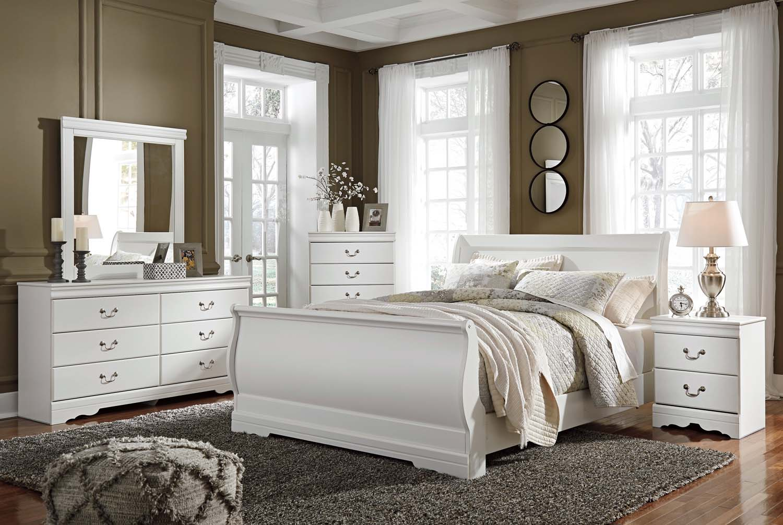 Anarasia   White 3 Piece Bed Set (Queen)