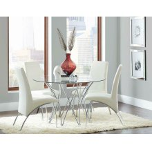 Cabianca Contemporary Chrome Dining Table