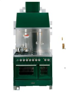 "Emerald Green 40"" 6 Burner Majestic Techno Dual Fuel Range"