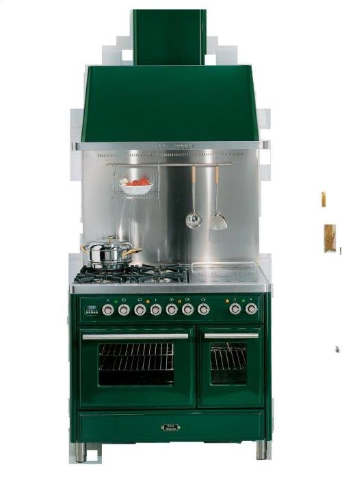 "Emerald Green 40"" Griddle Top Majestic Techno Dual Fuel Range"
