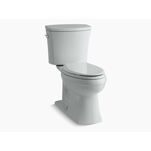 Ice Grey Comfort Height Two-piece Elongated 1.6 Gpf Toilet With Aquapiston Flushing Technology and Left-hand Trip Lever, Seat Not Included