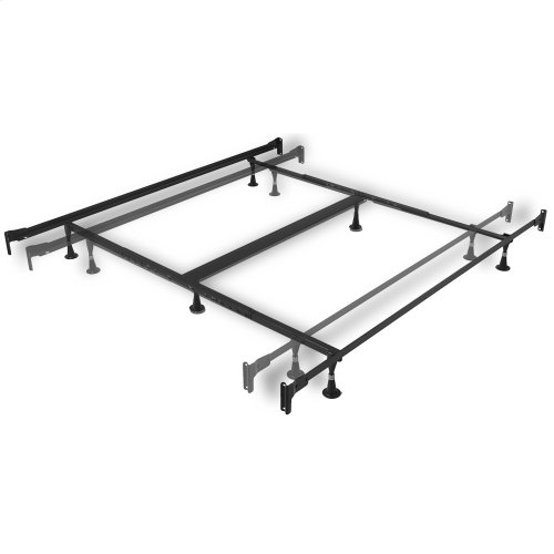 Engineered Adjustable PL856G Bed Frame with Fixed Head & Food Panel Brackets and (6) Glide Legs, Twin XL - King