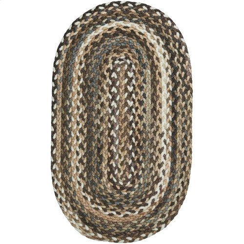 Windsor Taupe Braided Rugs (Custom)