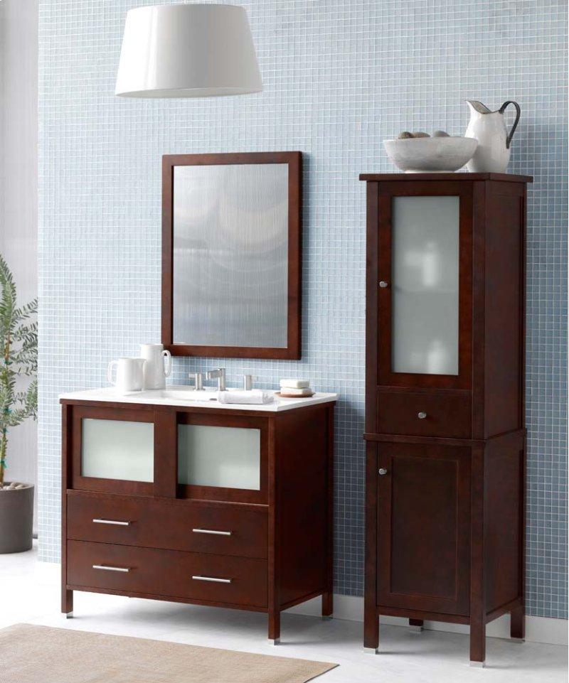 "Minerva 36"" Bathroom Vanity Base Cabinet in Dark Cherry"