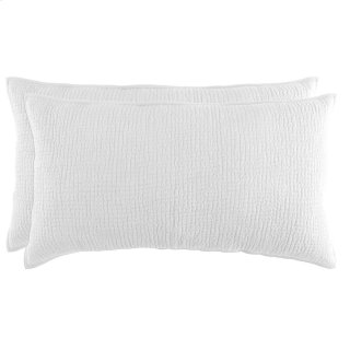 Danica White King Sham Set