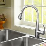 American StandardQuince 1-Handle Pull Down 1.5 GPM High-Arc Kitchen Faucet  American Standard - Stainless Steel
