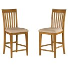 Mission Pub Chairs Set of 2 with Oatmeal Cushion in Caramel Latte Product Image