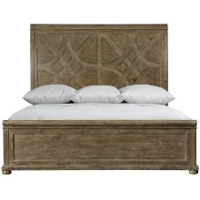 California King-Sized Rustic Patina Panel Bed in Peppercorn (387)