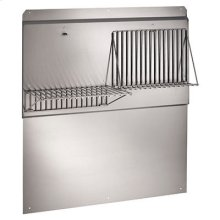 "42"" Backsplash with shelves in Stainless Steel"