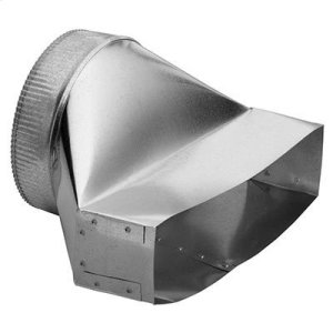 "Best3-1/4"" x 14"" to 8"" Round Vertical Discharge Transition for Range Hoods and Bath Ventilation Fans"