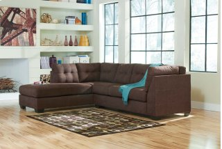 Maier Walnut Sectional Left