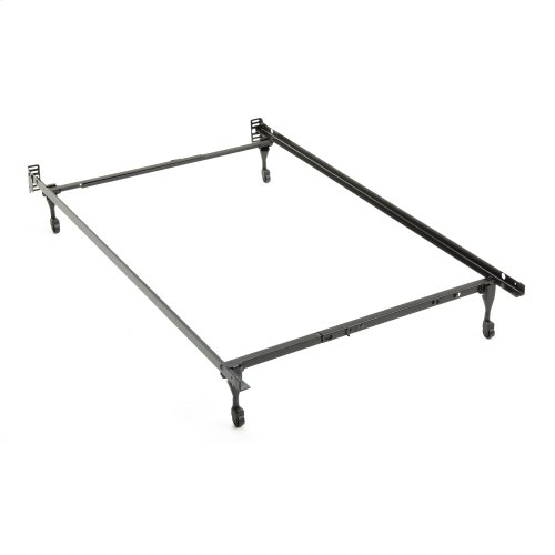Sentry PL79C Adjustable Posi-lock Bed Frame with Headboard Brackets and (4) Caster Legs, Twin - Full