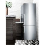 Summit Frost-free Energy Star Certified Bottom Freezer Refrigerator In Stainless Steel With Factory Installed Icemaker and Digital Controls