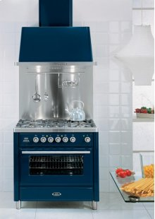 "Midnight Blue 36"" 6 Burner Majestic Techno Dual Fuel Range"