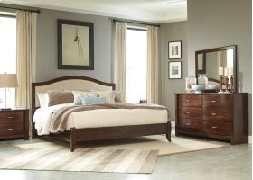 Corraya - Medium Brown 2 Piece Bed Set (King)