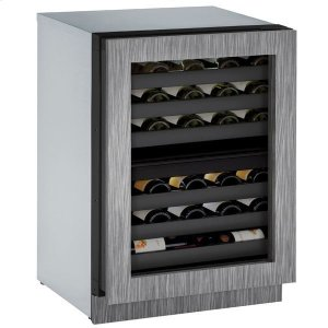 """U-LINE24"""" Dual-zone Wine Refrigerator With Integrated Frame Finish and Field Reversible Door Swing (115 V/60 Hz Volts /60 Hz Hz)"""