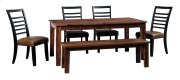 Manishore - Brown 6 Piece Dining Room Set Product Image