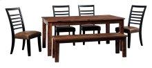 Manishore - Brown 6 Piece Dining Room Set