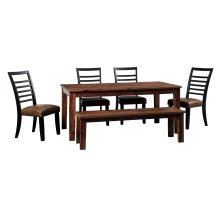 Manishore - Brown 6 Piece Dining Room Set