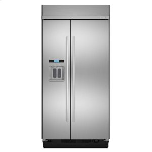 "Jenn-Air48"" Built-In Side-by-Side Refrigerator with Water Dispenser Stainless Steel"