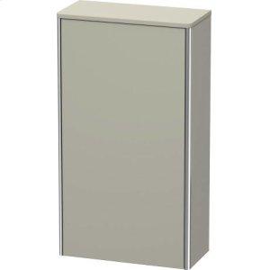 Semi-tall Cabinet, Taupe Satin Matt Lacquer