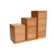 "O-C646 Modern Oak 2-Drawer Locking Vertical File Cabinet, 21""W x 20""D x 30""H"