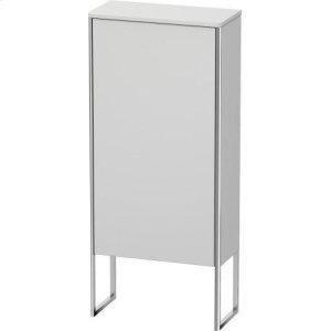 Semi-tall Cabinet Floorstanding, White Satin Matt Lacquer