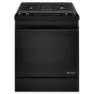 "JennairBlack Floating Glass30"" Dual-Fuel Downdraft Range Black"