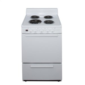 Premier24 in. Freestanding Electric Range in White