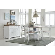 Counter Table Top - Light Oak/Distressed White Finish