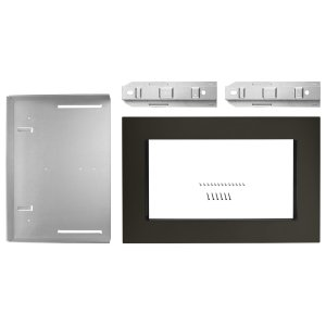 Whirlpool27 in. Trim Kit for Countertop Microwaves Black Stainless