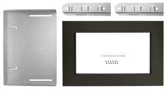 27 in. Trim Kit for Countertop Microwaves Black Stainless