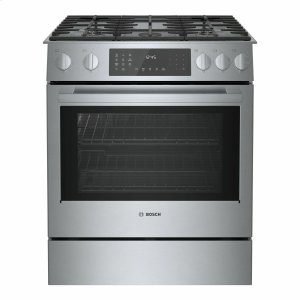 BOSCH800 Series Dual Fuel Slide-in Range 30'' Stainless Steel HDI8056U