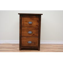 A-R448 Rustic 3 Drawer Night Stand