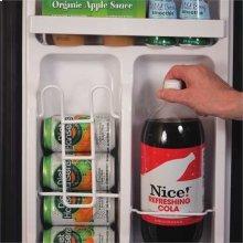 2.5 Cu. Ft. Energy Star Refrigerator with Freezer, Black