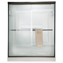 Euro Frameless Sliding Shower Doors - Silver Shine