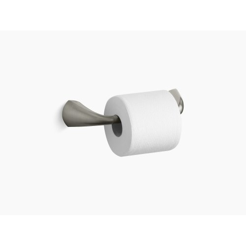 Vibrant Brushed Nickel Pivoting Toilet Tissue Holder