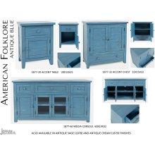 "American Folklore 60"" Console - Antique Blue"