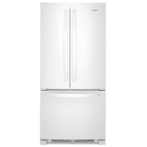 33-inch Wide French Door Refrigerator - 22 cu. ft. White - WHITE