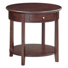 """CAF McKenzie Round End Table (26""""D)"""
